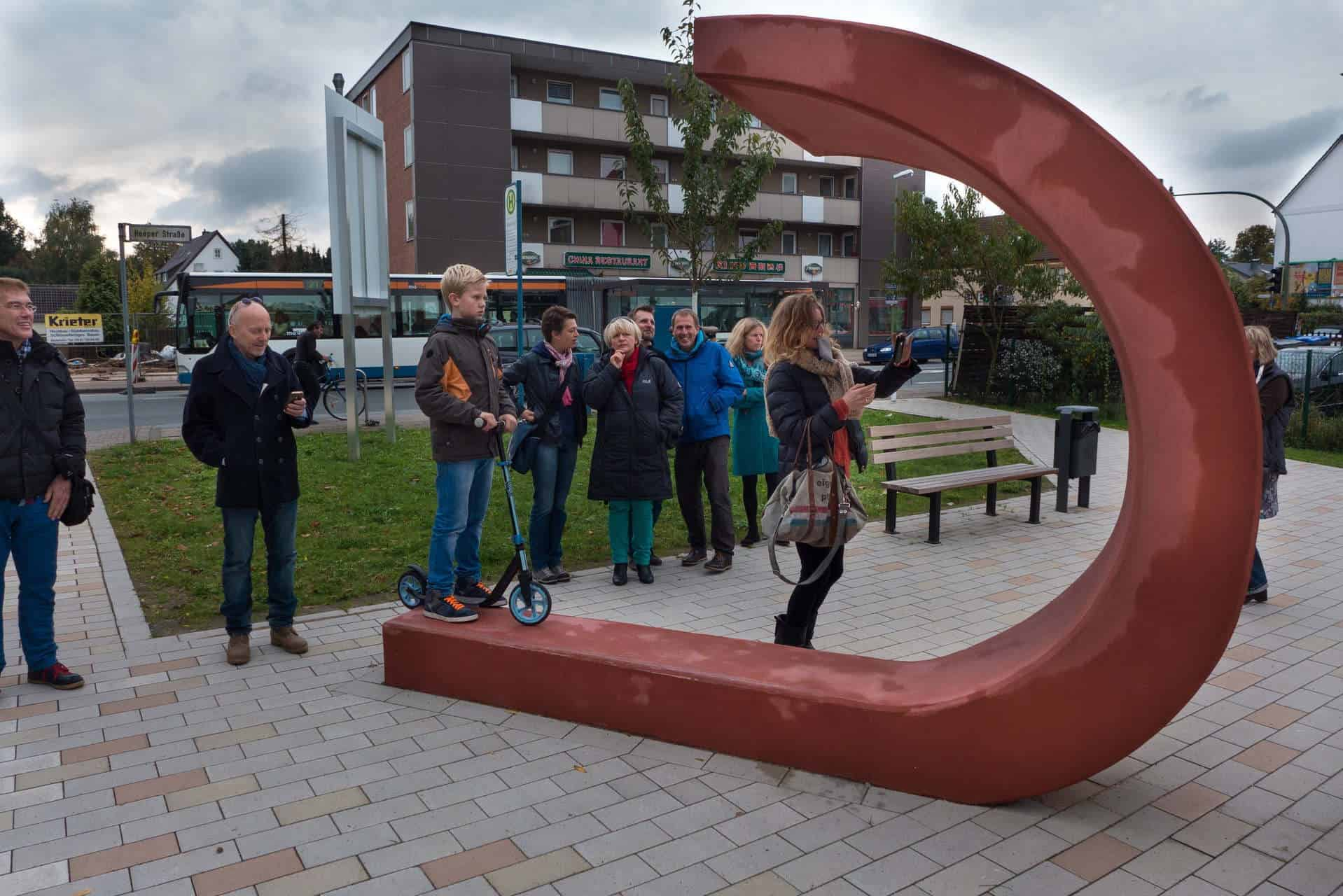 Partizipatives Kunstobjekt mit Landschaftsarchitekten realisiert