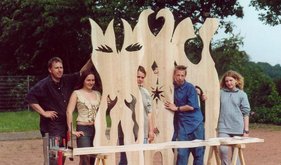 Partizipative Kunst - unbemalt_stellen