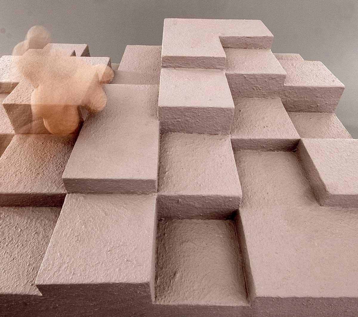 Bitte berühren Skulptur Ansicht 1